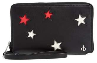 Rag & Bone Croc Stars Leather iPhone 6/7/8 & X Wallet