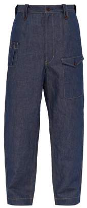 Junya Watanabe Loose Fit Cotton Blend Jeans - Mens - Indigo