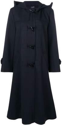 Jil Sander Navy single breasted duffle coat