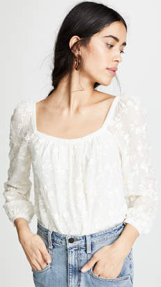 Rebecca Taylor Long Sleeve Kyla Embroidered Top