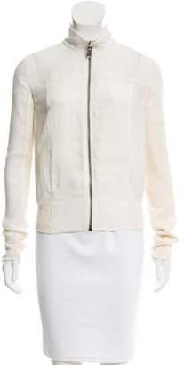 Rick Owens Wool-Accented Silk Jacket