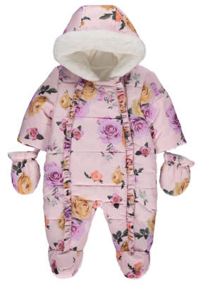 George Rose Padded Shower Resistant Snowsuit with Mittens