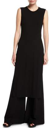 Rosetta Getty Split-Side Ribbed Jersey Maxi T-Shirt