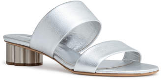Salvatore Ferragamo Belluno 30 Silver Leather Sandals
