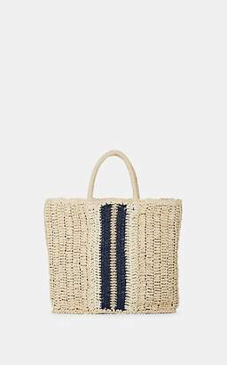 5083196292 Barneys New York WOMEN S STRIPED RAFFIA TOTE BAG - NEUTRAL