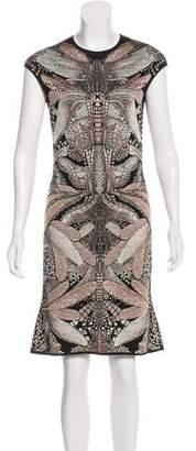 Alexander McQueen Dragonfly Print Knee-Length Dress