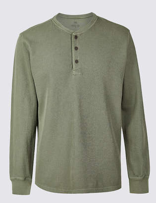 Marks and Spencer Slim Fit Pure Cotton Textured Top