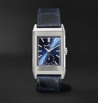 Jaeger-LeCoultre Jaeger Lecoultre Reverso Tribute Hand-Wound 27mm Stainless Steel And Leather Watch, Ref. No. Q3978480