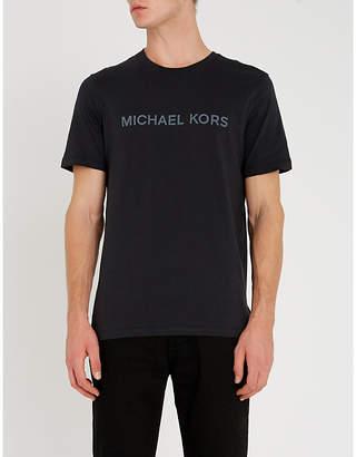Michael Kors Cities logo-print cotton-jersey T-shirt