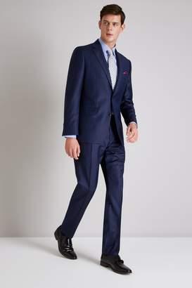 Ermenegildo Zegna Cloth Tailored Fit Navy Broken Stripe Jacket