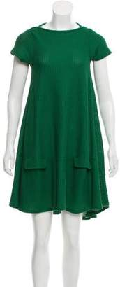 David Szeto Short Sleeve Mini Dress