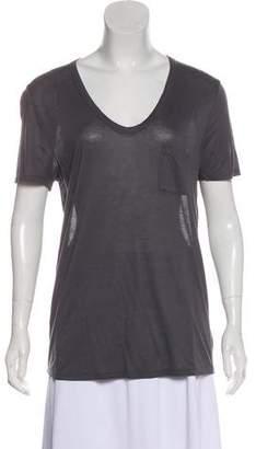 Alexander Wang V-neck Pocket T-Shirt