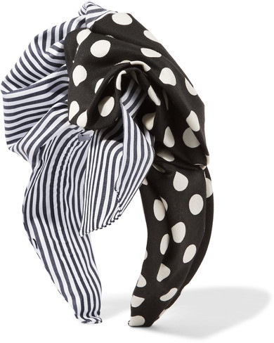 Dolce & GabbanaDolce & Gabbana - Printed Cotton-twill Headband - Black