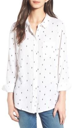 Women's Rails Charli Cactus Print Linen Blend Shirt $148 thestylecure.com