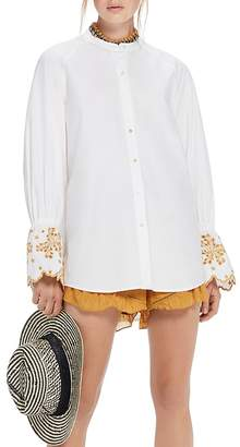 Scotch & Soda Embroidered Flare-Sleeve Top
