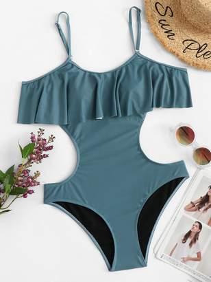 Shein Plus Cut-Out Flounce Monokini