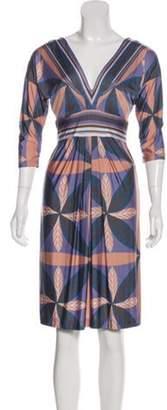 Alberta Ferretti Printed Knee-Length Dress multicolor Printed Knee-Length Dress
