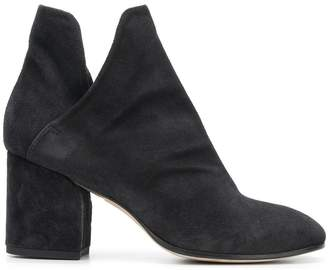 d8a9dba2f56 Black Suede Heeled Ankle Boots - ShopStyle UK