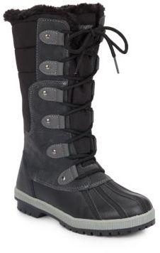 Cami Faux Fur-Trimmed Boots $119 thestylecure.com