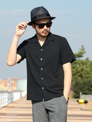 Men's Bigi (メンズ ビギ) - MEN'S BIGI ストレッチ オープンカラーシャツ(開襟シャツ)/COOL MAX メンズ ビギ シャツ/ブラウス