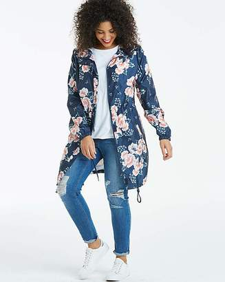 Fashion World Floral Print Pac a Mac Parka