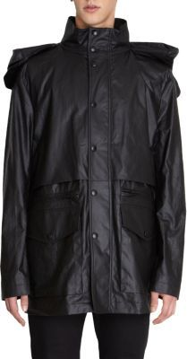 Givenchy Large Hood Snap Button Front Parka