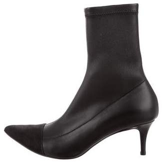 Haider Ackermann Leather Cap-Toe Ankle Boots w/ Tags