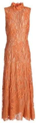 J. Mendel J.mendel Embellished Cotton-Blend Lace Midi Dress