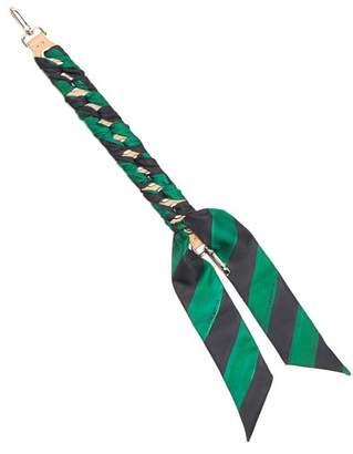Fendi Strap You Whipstitched Ribbon Short Bag Strap - Womens - Black Green