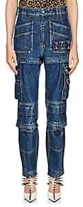 Balenciaga Women's Convertible Cargo Jeans - Md. Blue