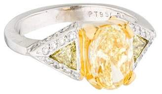 18K Yellow Oval Brilliant Diamond Engagement Ring