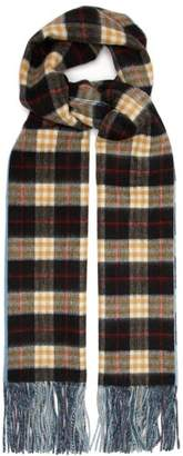 Burberry Vintage Check Cashmere Scarf - Womens - Blue