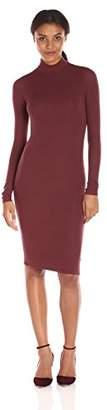 ATM Anthony Thomas Melillo Women's Long Sleeve Mock Neck Dress