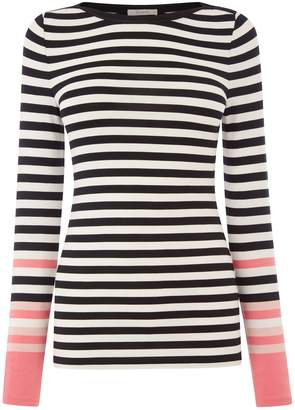 b7e3e779405 Next Womens Oasis Black Bon Bon Stripe Boat Neck Top