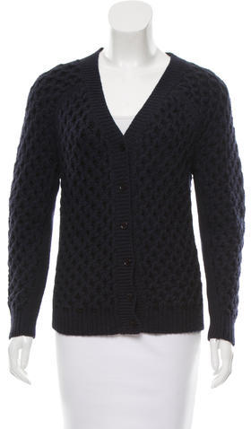 Carven Carven Wool Cable Knit Cardigan