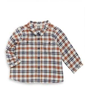 Bonpoint Baby's& Toddler's Plaid Cotton Button-Down Shirt