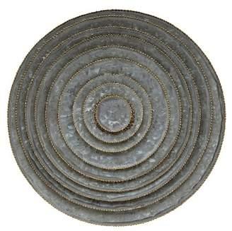 "Creative Co-op 16\"" Round Decorative Galvanized Metal Trays - Set of 9"