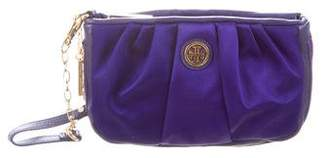Tory Burch Leather-Trimmed Wristlet