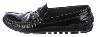 Louis Vuitton Patent Leather Square-Toe Loafers