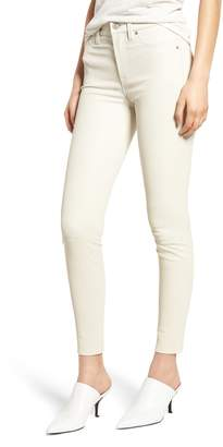 Hudson Jeans Barbara High Waist Super Skinny Leather Jeans