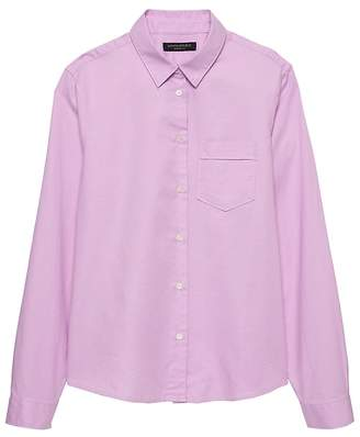 Banana Republic Petite Quinn Boy-Fit Oxford Shirt