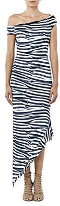 Nicole Miller Women's Heatwave Stripe Off Shoulder Dress