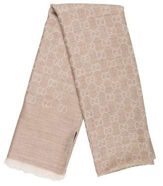 Gucci Wool & Silk GG Shawl