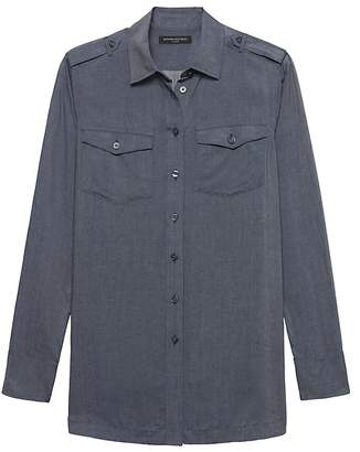 Banana Republic Petite Parker Tunic-Fit Utility Shirt