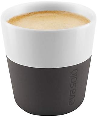 Eva Solo Espresso Cup, Set of 2, Black/White