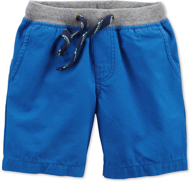 Ribbed-Waist Cotton Shorts, Toddler Boys