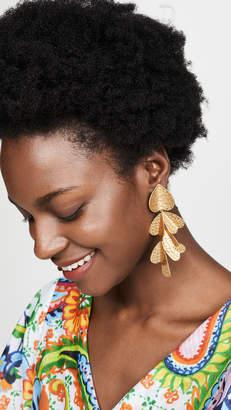 Kate Spade Metal Petal Statement Earrings