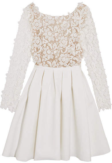 Rime Arodaky - Clover Embroidered Tulle And Cady Mini Dress - White