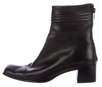 Sesto Meucci Leather Square-Toe Boots