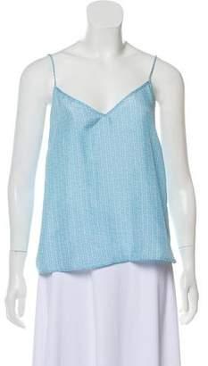 Paloma Blue Patterned Sleeveless Top
